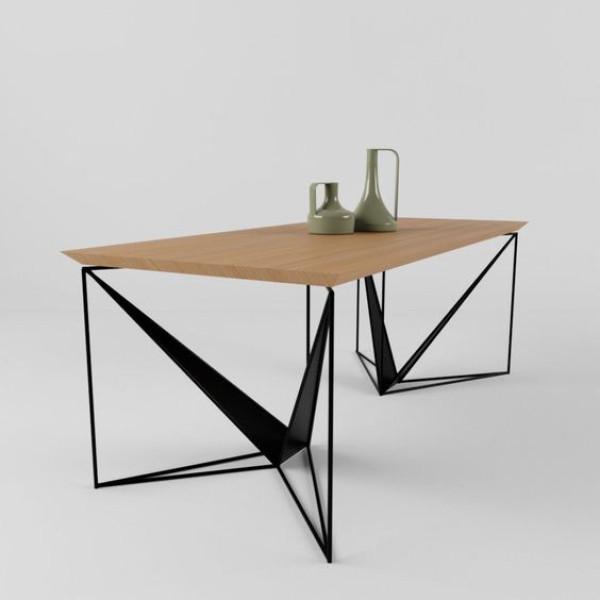 Τραπέζι με μεταλλικό μασίφ σκελετό